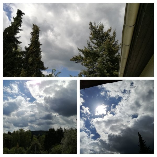 collage, wolken-collage