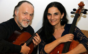 Duo Burstein & Legnani in Greiz - Virtuose Musik für Cello & Gitarre