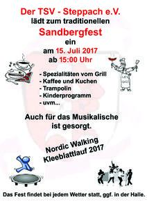 Sanbergfest am 15.07.2015