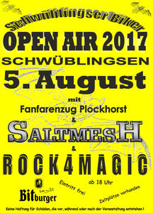 OPEN AIR in Schwüblingsen am 05.08.2017