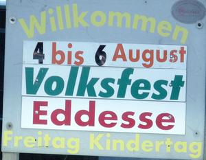 Volksfest in Eddesse ab 4.August 2017