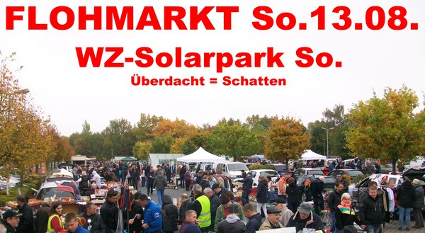 sonntags flohmarkt am solarpark in wetzlar wetzlar. Black Bedroom Furniture Sets. Home Design Ideas
