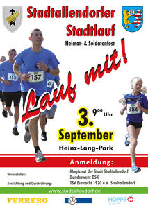 31. Stadtlauf in Stadtallendorf am 03. September 2017