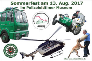 Sommerfest im Polizeioldtimer Museum am 13. August