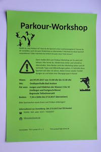 Parkour-Workshop in Bad Arolsen am 9. September 2017