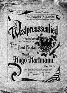 Westpreussenlied > https://de.wikipedia.org/wiki/Datei:Westpreu%C3%9Fenlied-Cover.jpg