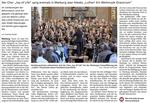 Bericht in der Oberhessischen Presse über die Aufführung des Luther-Oratoriums am 18.06.2017 in der Lutherischen Pfarrkirche in Marburg