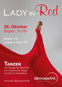 Motto-Tanzparty 'Lady in Red' im dancepoint