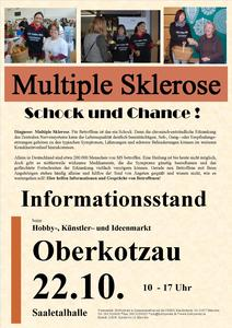 Informationsstand Multiple Sklerose am 22.10.2017 in Oberkotzau