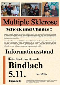 Informationsstand Multiple Sklerose am 5.11.2017 in Bindlach