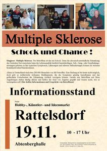 Informationsstand Multiple Sklerose am 19.11.2017 in Rattelsdorf
