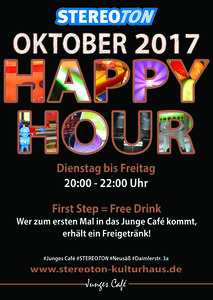 Special im Oktober im STEREOTON: Happy Hour & First Step