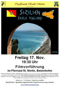 Filmabend: Sizilien -Seele Italiens