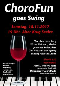 Konzert 'ChoroFun goes Swing' am 18. November 2017