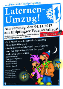 Laternenumzug am 04.11.2017 in Hülptingsen