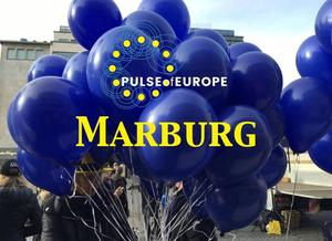 Pulse of Europe -  5. November, 14 Uhr, Marktplatz Marburg - 12. Kundgebung