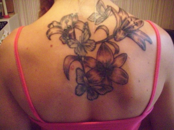 tattoo, lilien