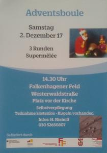 Adventsboule in Spandau