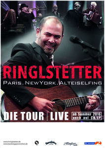 Hannes Ringlstetter & Band: 'Paris, New York, Alteiselfing'