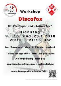 Ab Januar Discofox-Workshop bei der TSA in Mellendorf
