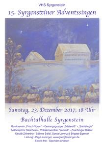 15. Syrgensteiner Adventssingen