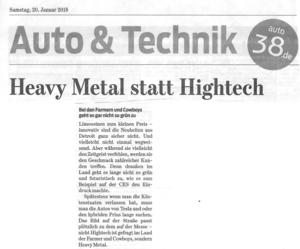Heavy Metall der Pick Ups statt Hightech !!