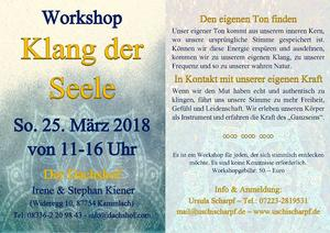 Workshop 'Klang der Seele'