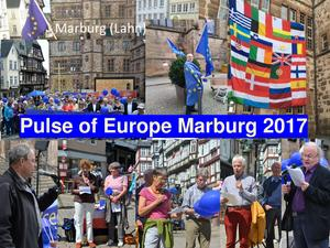 Let's be the Pulse of Europe – in Marburg am Sonntag, dem 04.03.2018, um 14:00 auf dem Marktplatz