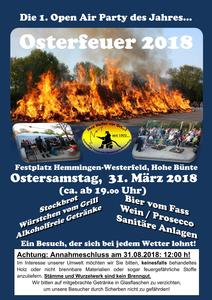 Osterfeuer 2018 in Hemmingen-Westerfeld