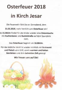 Osterfeuer in Kirch Jesar