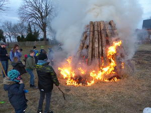 Osterfeuer in Seershausen am 29.03.2018