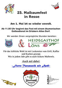 23. Maibaumfest in Resse