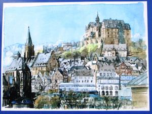 Marburg – Aquarelle.