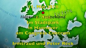 11. Mai 2018. 1. Teil. Im Stadtpark in Hannover am Congress Centrum.