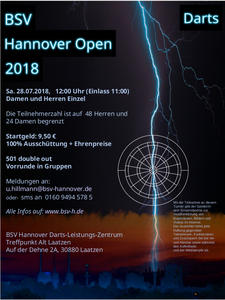 Darts BSV Hannover Open 2018