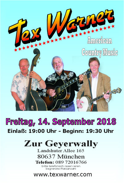 Country Music Konzert mit Tex Warner in München