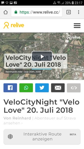 Vogelflug-Video & Bilder der VeloCityNight 'Velo Love' am 20. Juli 2018 in Hannover