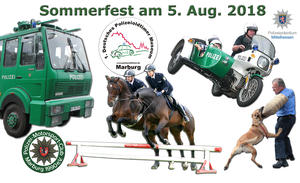 Sommerfest im Polizeioldtimer Museum Marburg am 5. Aug. 2018