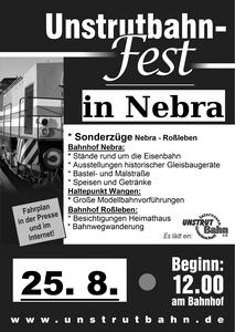 25.08.2018 - Unstrutbahnfest in Nebra