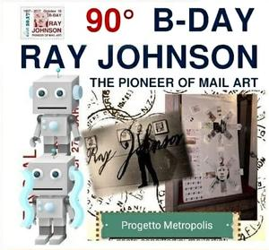 RAY JOHNSON 90° B-DAY Ausstellung in Mailand