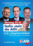AfD-Wahlkampfveranstaltung in Kirchhain https://www.facebook.com/events/2021068514591785/