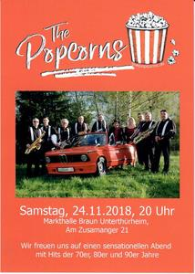 Tanzparty mit The PopCorns am 24.11.2018