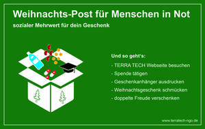 Giving Tuesday - TERRA TECH startet Aktion Weihnachts-Post