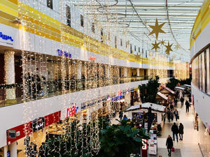 3. Dezember 2018. A2 Center Hannover. Adventsdekoration.