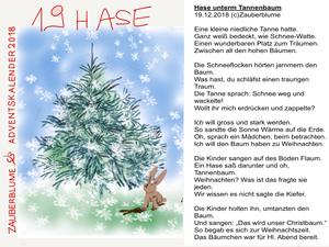 Adventskalender 19.12.2018 19. Türchen