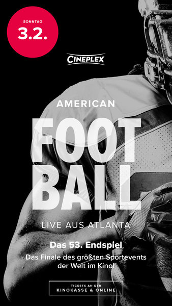 """Das Football Finale der Superlative live aus Atlanta"" im Cineplex Meitingen"