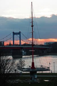 Sunset am Rhein, 14.Jan. 2019