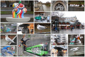 Collage, ein regnerischer Tag in Hannover !