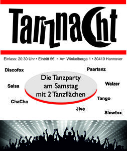 """TanzNacht"" mit Workshop"