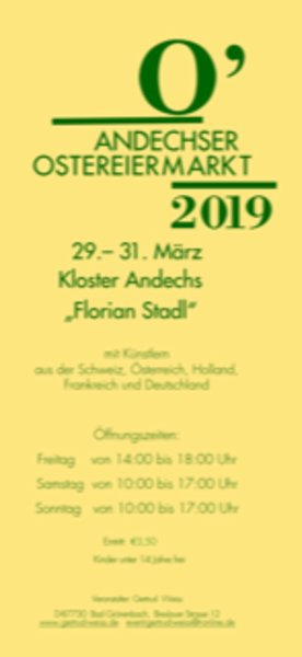Internationaler Ostereiermarkt Kloster Andechs 2019